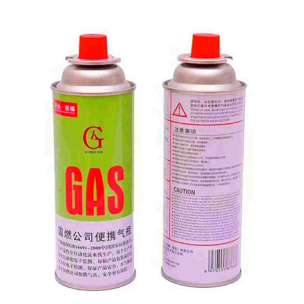 Empty Camping Refill Butane Gas Cartridge Canister
